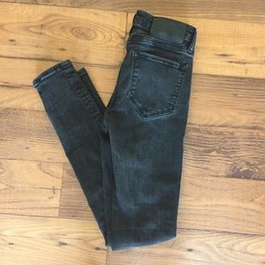 All Saints Black Low Rise Skinny Fit Mast Jeans 26